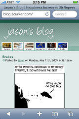 Jason's Blog on iPhone